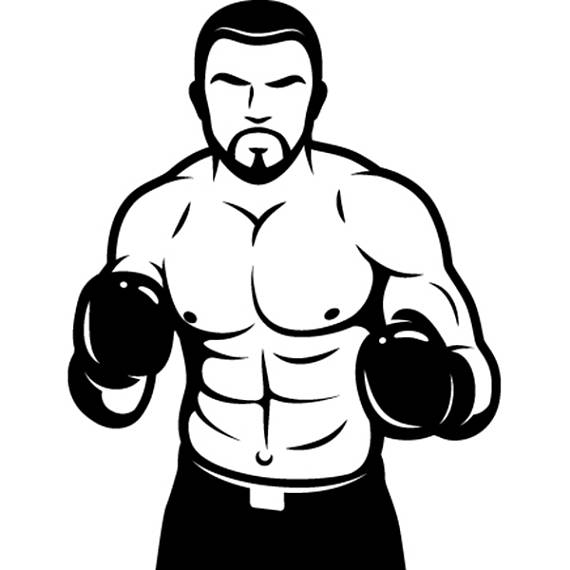 Boxing fight fighting fighter. Boxer clipart mma