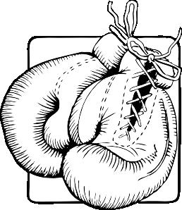 Boxer clipart outline. Boxing gloves clip art