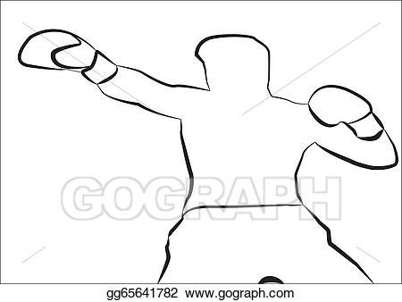 Boxer clipart outline. Clip art vector stock