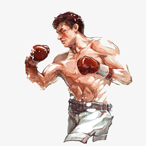 Boxers male boxing athlete. Boxer clipart professional boxer