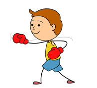Boxer clipart punching. Sports free boxing to