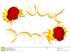 Red boxing gloves vector. Boxer clipart punching
