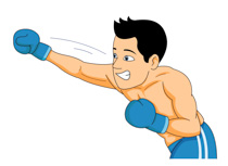 Sports free boxing to. Boxer clipart punching