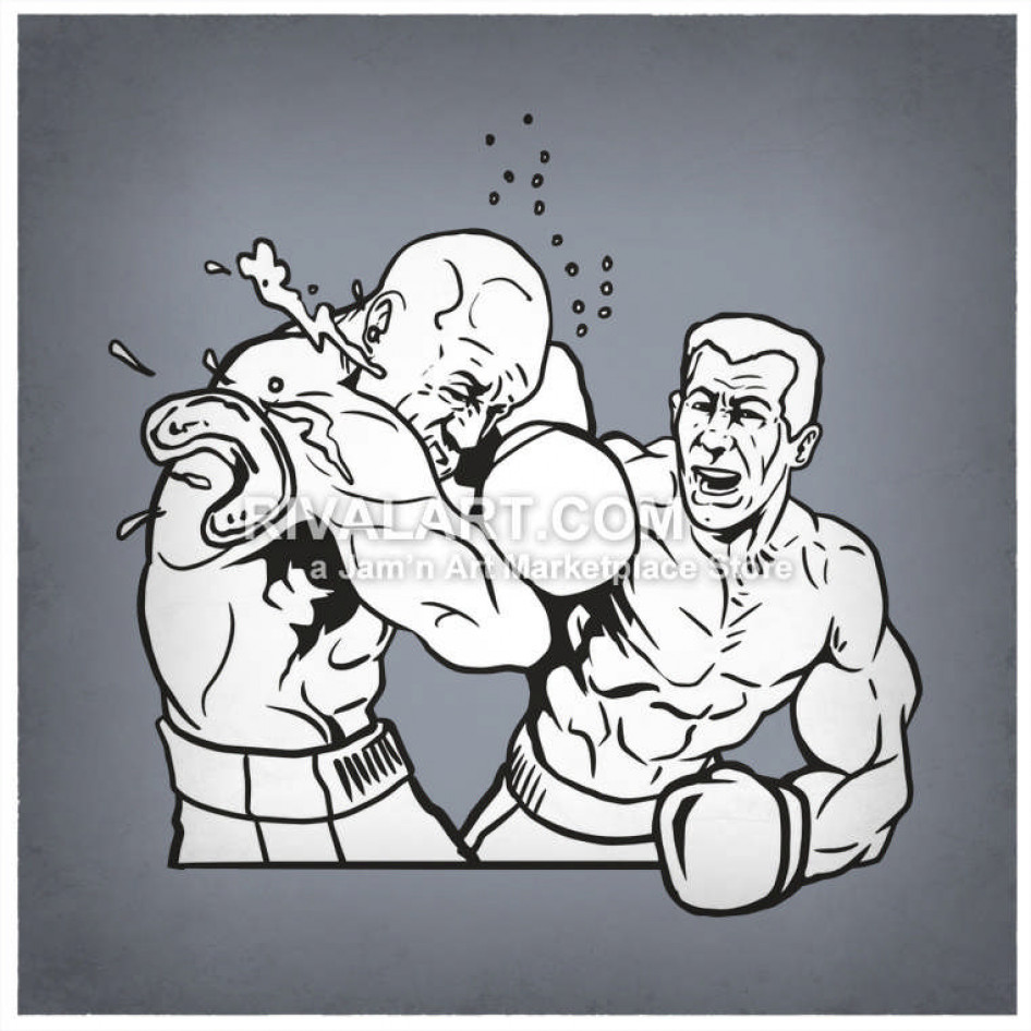 Boxer clipart punching. His opponent in the