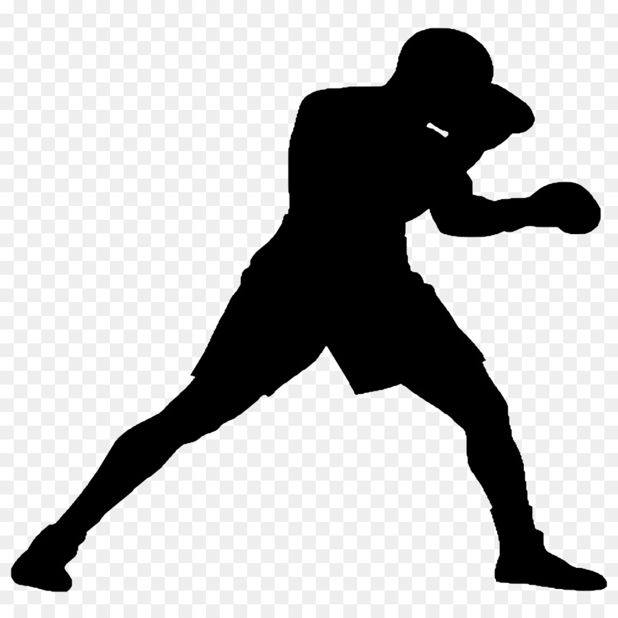 Black line background boxing. Boxer clipart silhouette