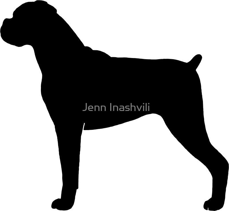 Boxer clipart silhouette. Of dog at getdrawings