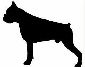 Boxer clipart silhouette. Dog head at getdrawings