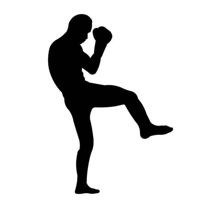 Boxer clipart silhouette. Muay thai at getdrawings