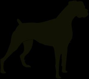 boxer clipart silhouette