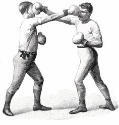 Boxer clipart vintage. Image box fight boxing