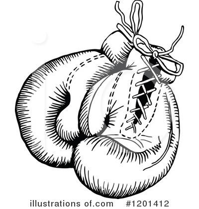 Boxer clipart vintage. Boxing gloves illustration by
