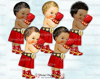 Little prince baby boy. Boxer clipart vintage
