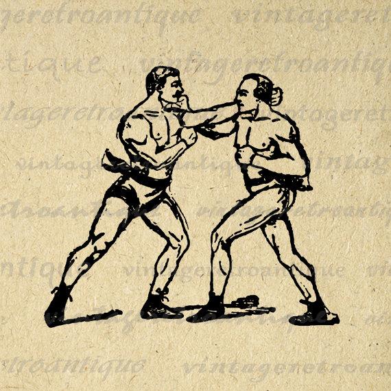 boxer clipart vintage