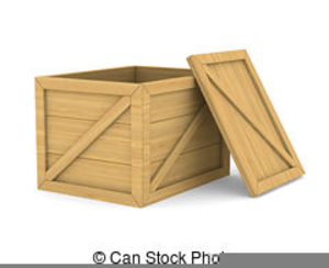 Flattened cardboard free images. Boxes clipart