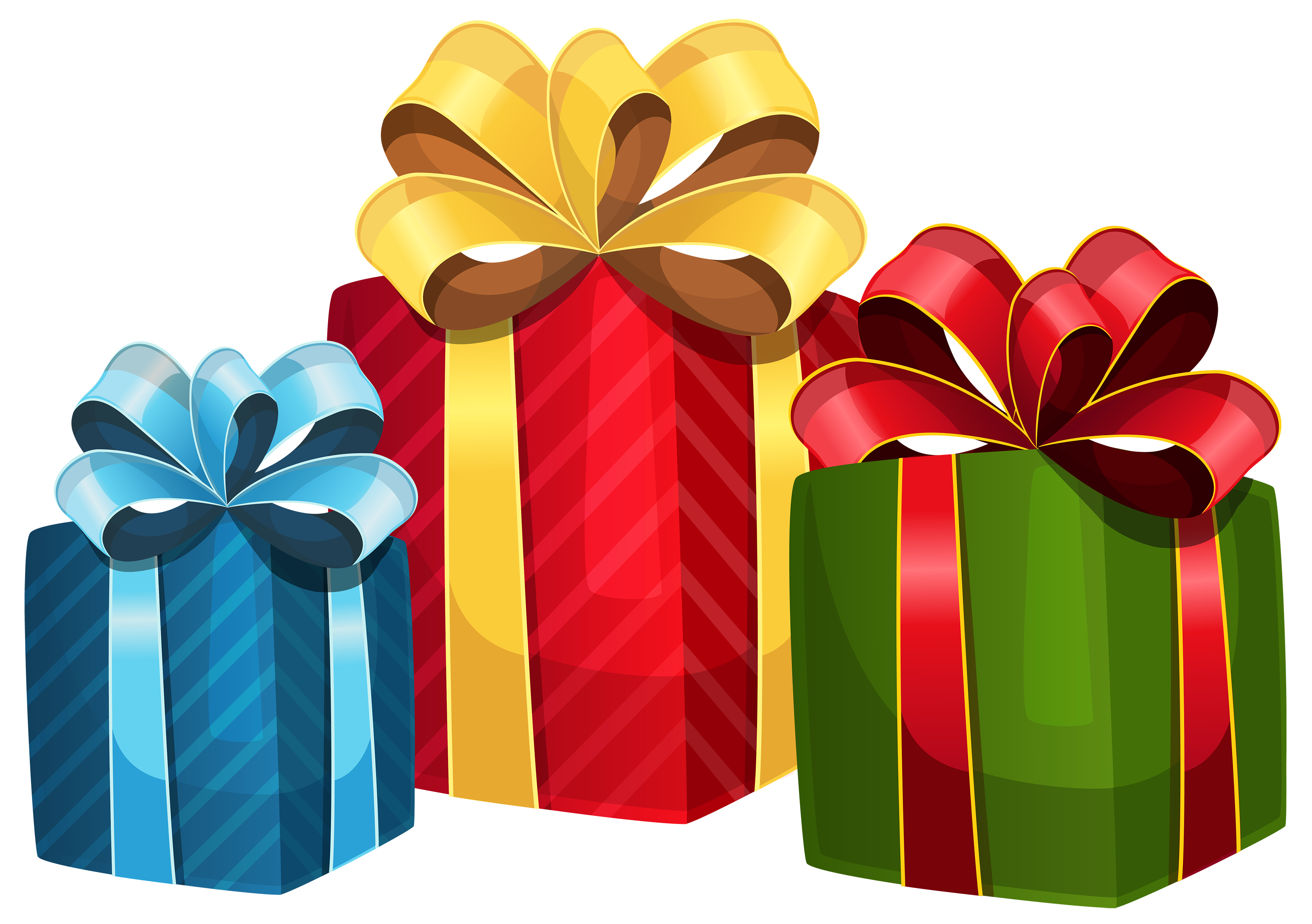 Colorful Gift Boxes PNG Clipart