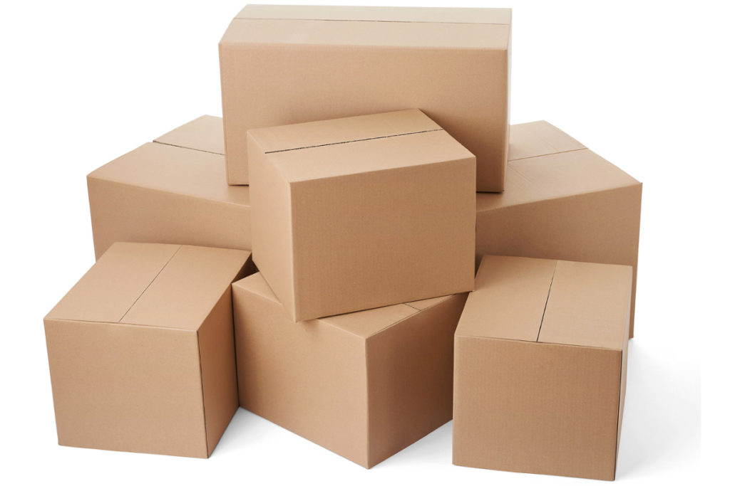 Corrugated box d wall. Boxes clipart