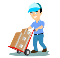 Boxes clipart. Search results for deliveryman