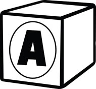 Boxes clipart alphabet. Black and white a