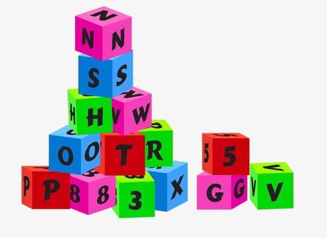 Color blocks letter box. Boxes clipart alphabet