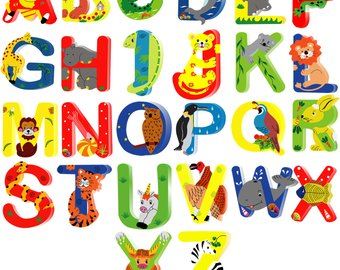 Letters etsy animal wooden. Boxes clipart alphabet