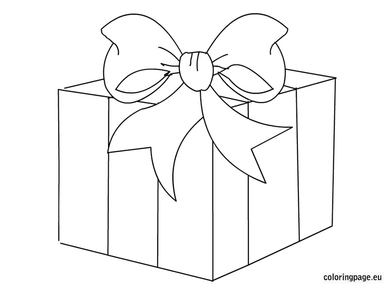Gift box station . Boxes clipart black and white