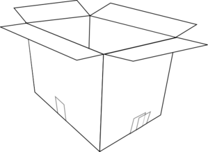 Boxes clipart black and white. Open box clip art