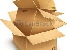 Empty open isolated on. Boxes clipart cardboard box