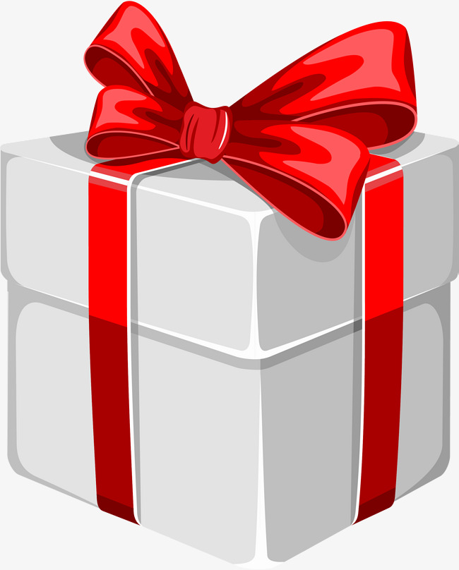 Red gift box simple. Boxes clipart cartoon