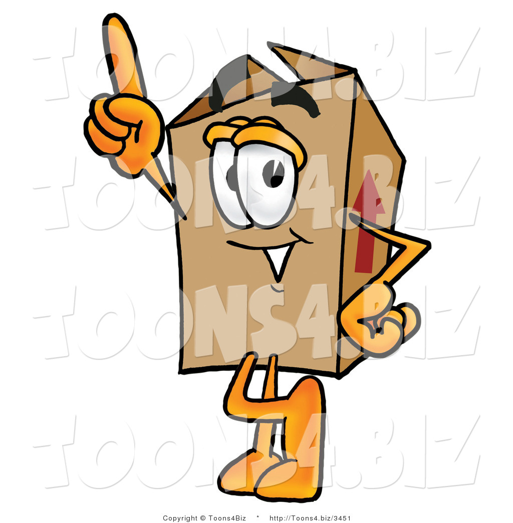 Boxes clipart cartoon. Illustration of a packing