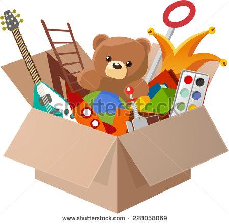 Boxes clipart cartoon. Toy box