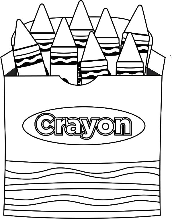 Glamorous crayon box coloring. Boxes clipart colouring