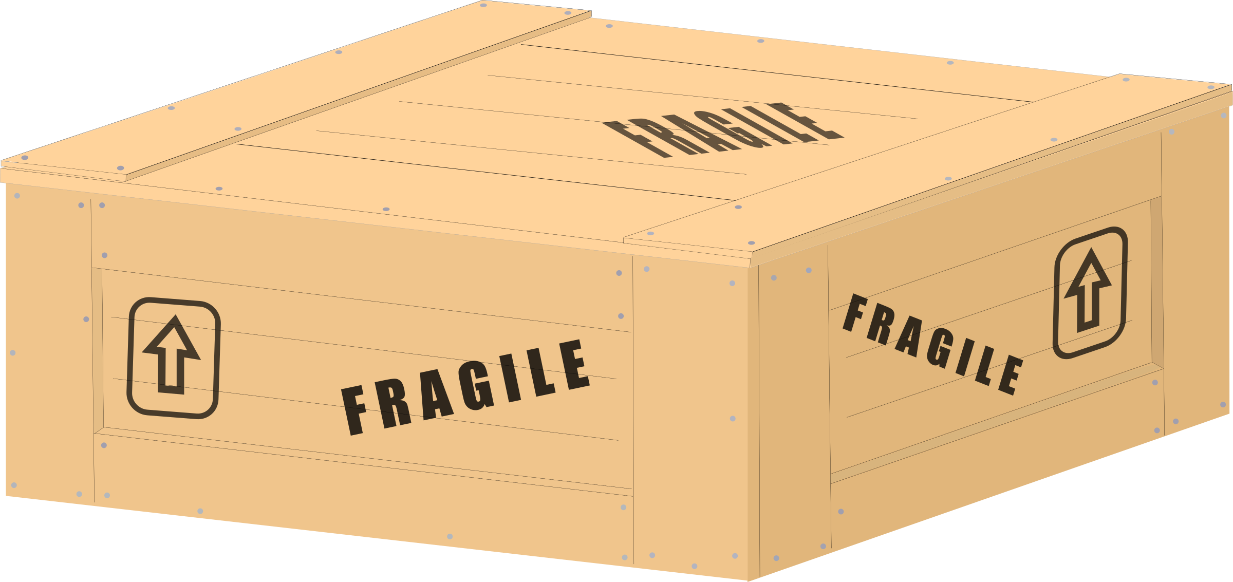 Boxes clipart crate. Wood w writing big