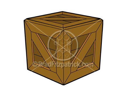 Boxes clipart crate. Clip art royalty free