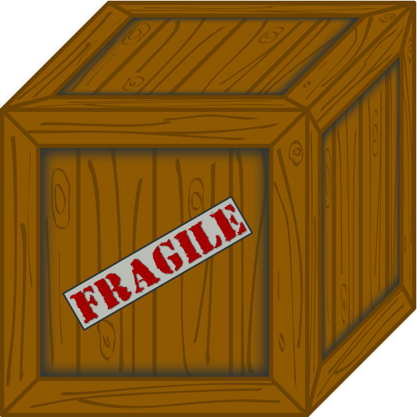 Boxes clipart crate. Wooden clip art at