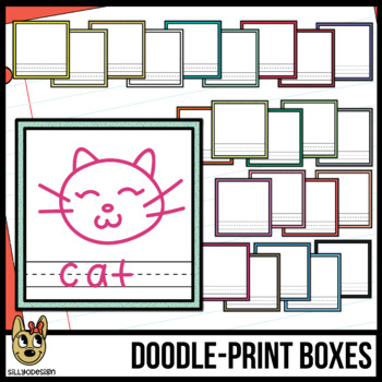 Boxes clipart doodle. Print speckled by sillyodesign