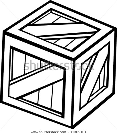 Boxes clipart drawing. Wooden box or crate