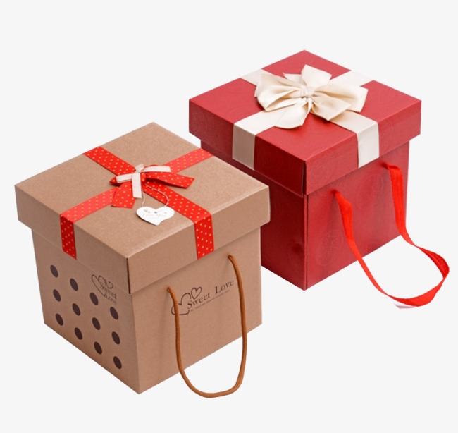 Boxes clipart empty box. Red and brown gift