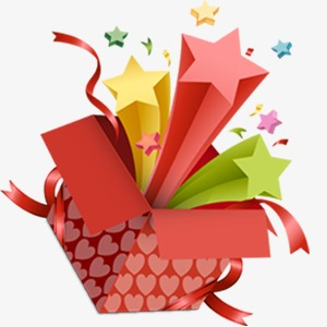 Surprise gift red joyous. Boxes clipart empty box