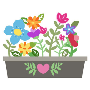 Boxes clipart flower. Silhouette design store view