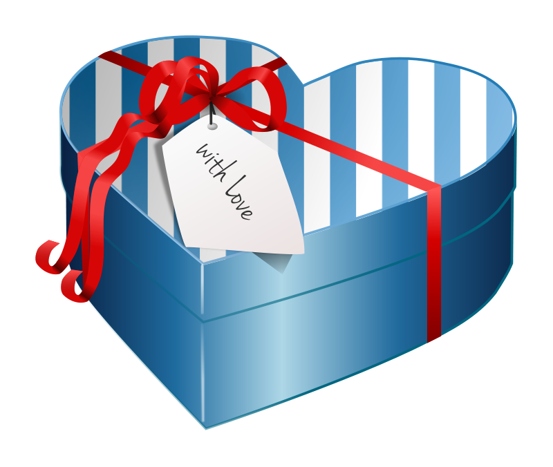 Gift graphics of beautifully. Clipart box heart