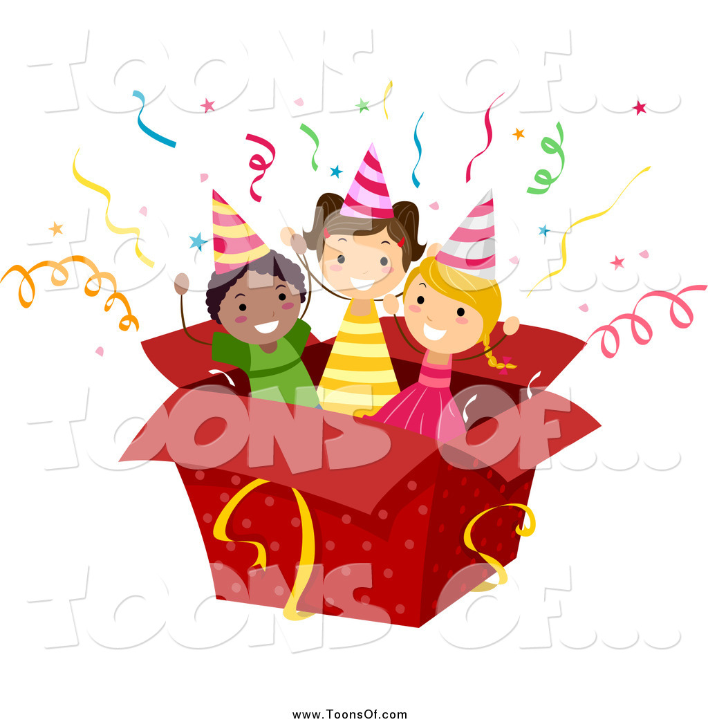 Of kids in a. Boxes clipart happy birthday