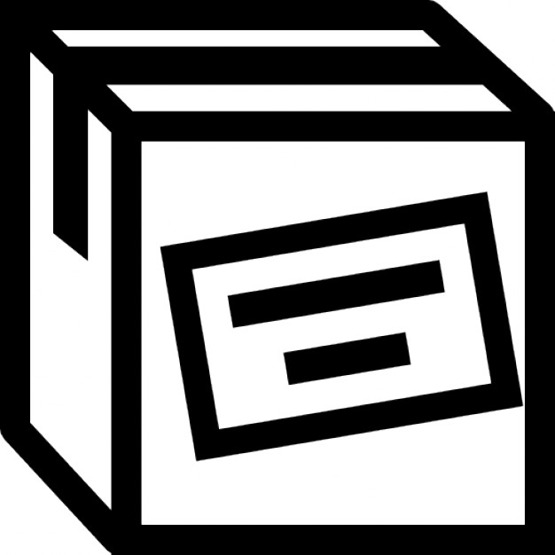 Boxes clipart icon. Cargo box outline with