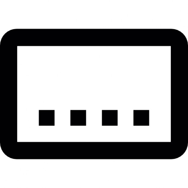 Boxes clipart icon. Electronic box with buttons