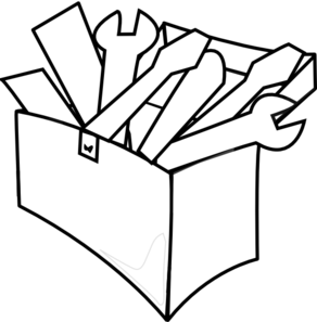 Boxes clipart line drawing. Tools at getdrawings com