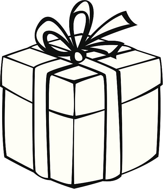 collection of gift. Boxes clipart outline