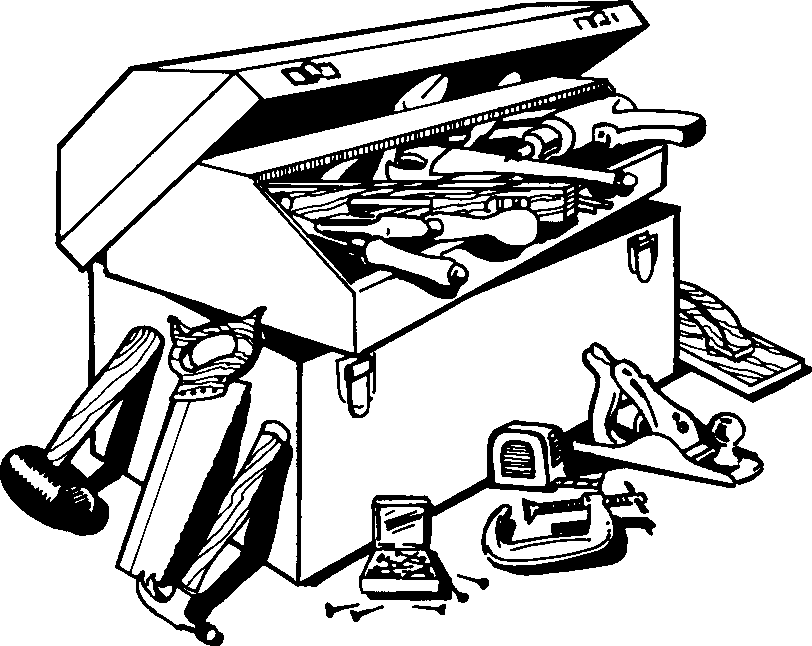 Png toolbox black and. Boxes clipart outline