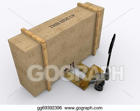 Stock illustration jack with. Boxes clipart pallet