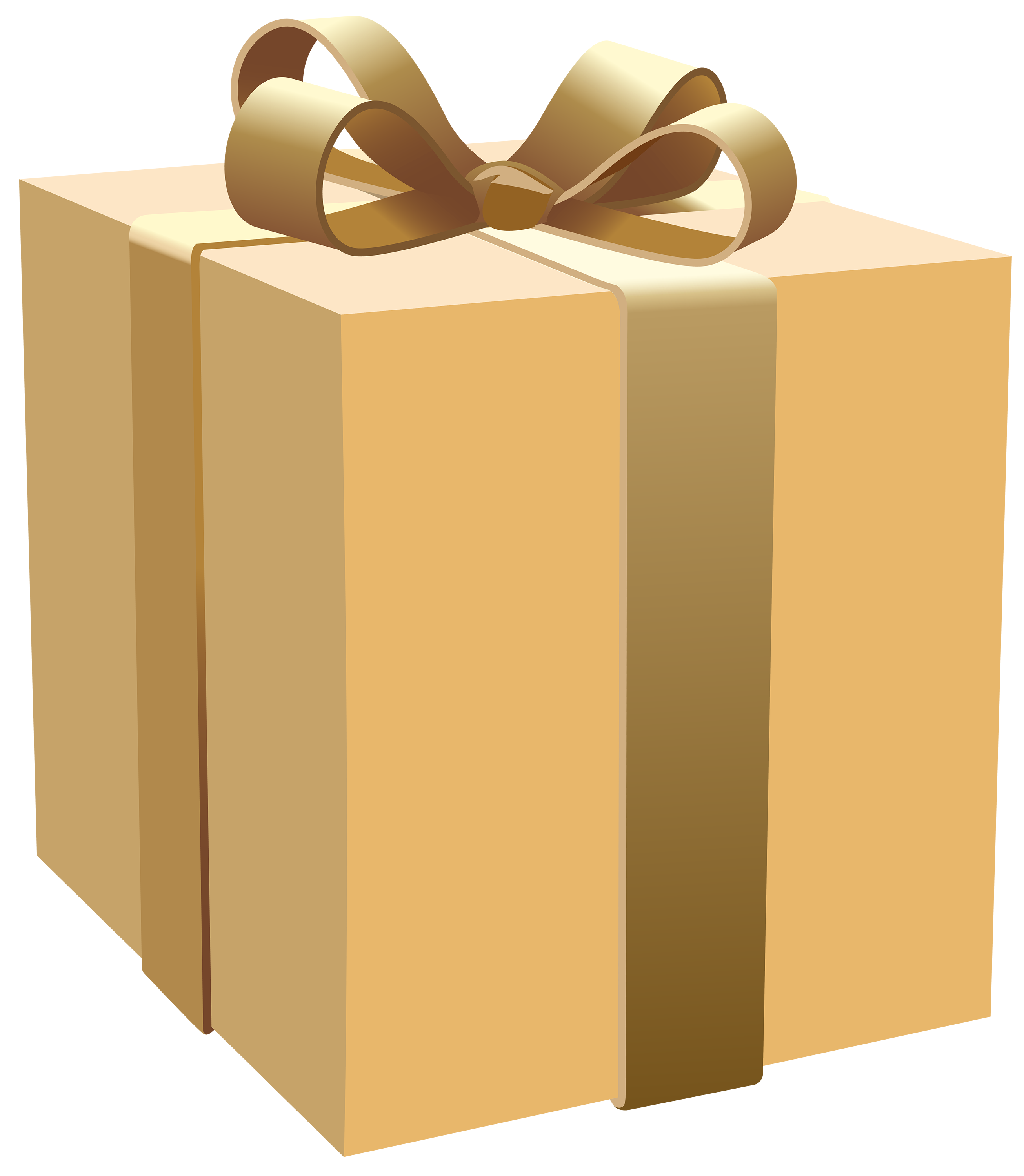 Cream box png best. Gift clipart yellow
