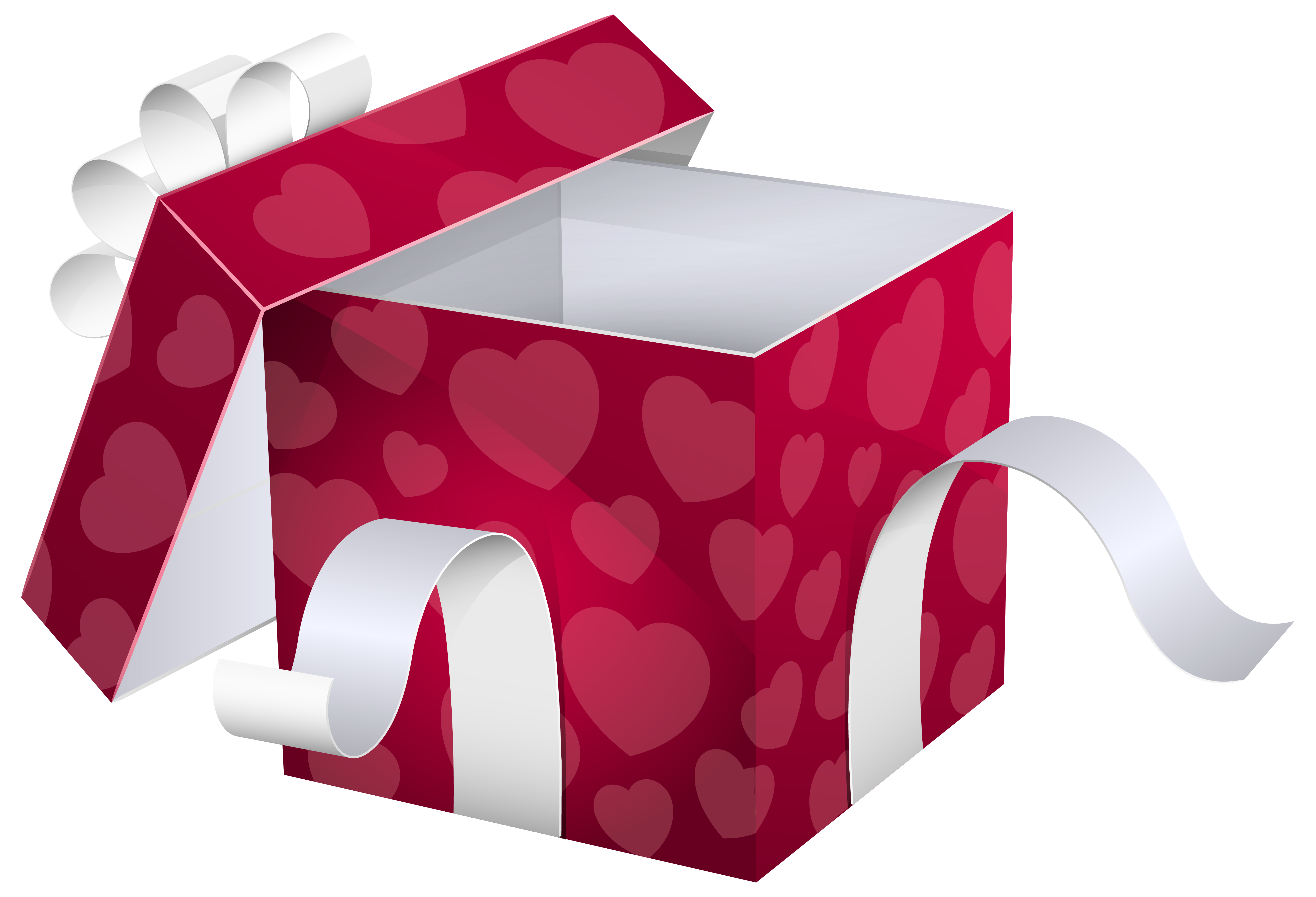 Gift clipart love gift. Open pink box png