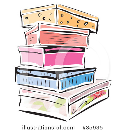 Boxes illustration by lisa. Box clipart shoe box